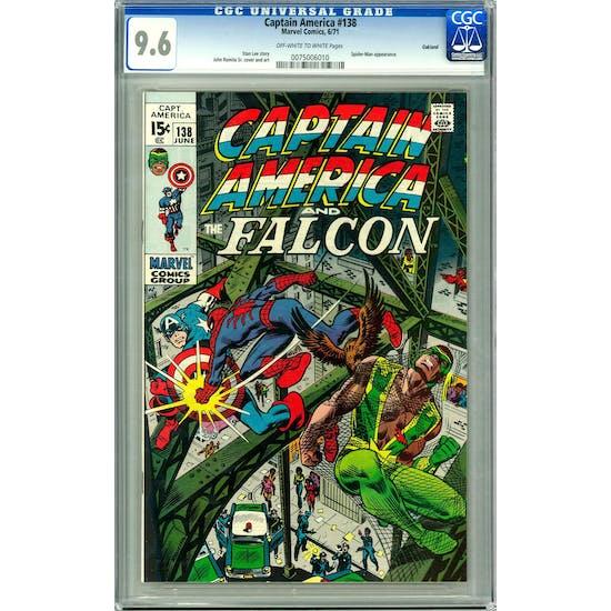 Captain America #138 CGC 9.6 Oakland Pedigree (OW-W) *0075006010*