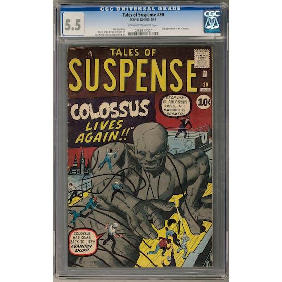 Tales of Suspense #20 CGC 5.5 (OW-W) *0263817007*