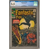 Fantastic Four #52 CGC 5.5 (OW-W) *0330426006*