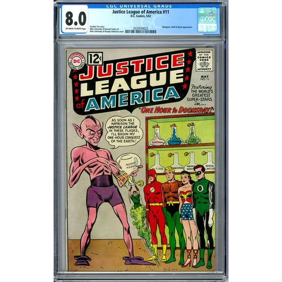 Justice League of America #11 CGC 8.0 (OW-W) *0334554023*