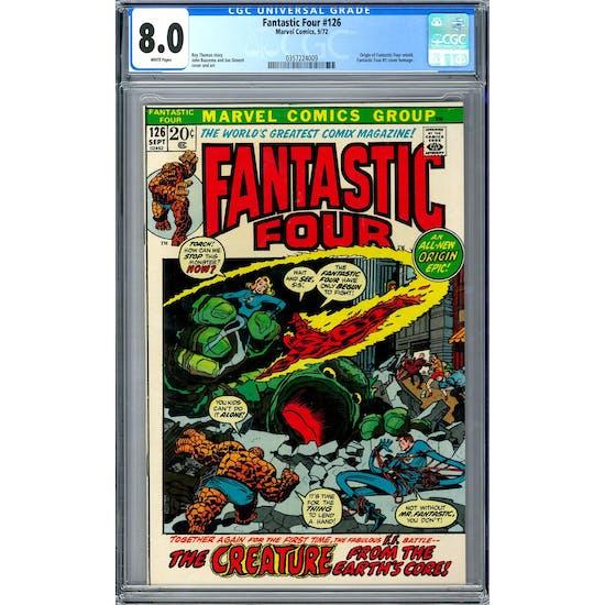 Fantastic Four #126 CGC 8.0 (W) *0357224009*