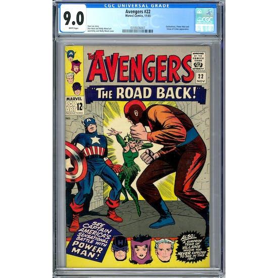 Avengers #22 CGC 9.0 (W) *0359336007*