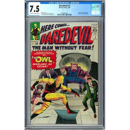 Daredevil #3 CGC 7.5 (OW-W) *0360043018*