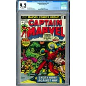 Captain Marvel #25 CGC 9.2 (W) *0361371004*