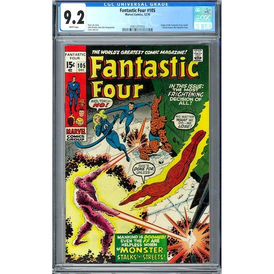 Fantastic Four #105 CGC 9.2 (W) *0361371010*