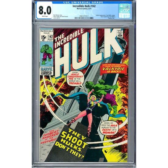 Incredible Hulk #142 CGC 8.0 (W) *0361371017*