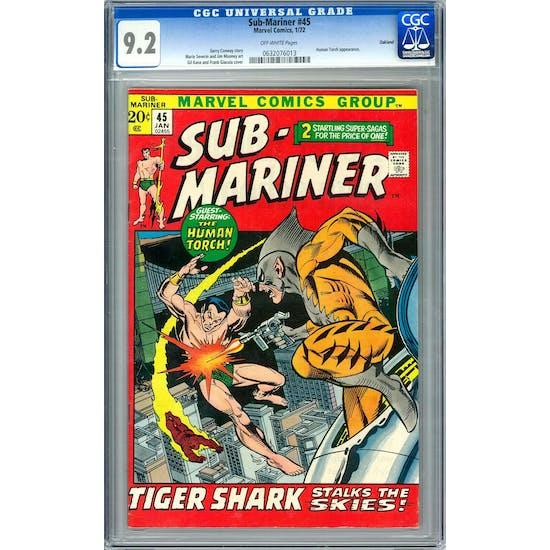 Sub-Mariner #45 CGC 9.2 Oakland Pedigree (OW) *0632076013*
