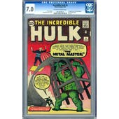 Incredible Hulk #6 CGC 7.0 (OW-W) *0914655012*
