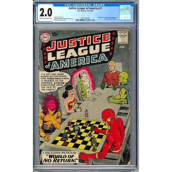 Justice League of America #1 CGC 2.0 (C-OW) *0931344008*
