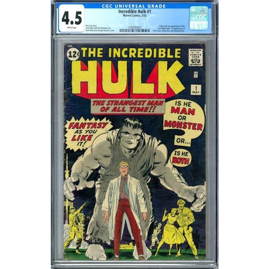 Incredible Hulk #1 CGC 4.5 (W) *1284089002*