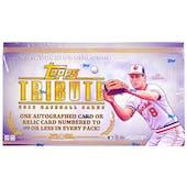 2013 Topps Tribute Baseball Hobby Box