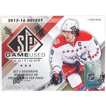 2015/16 Upper Deck SP Game Used Hockey Hobby Box