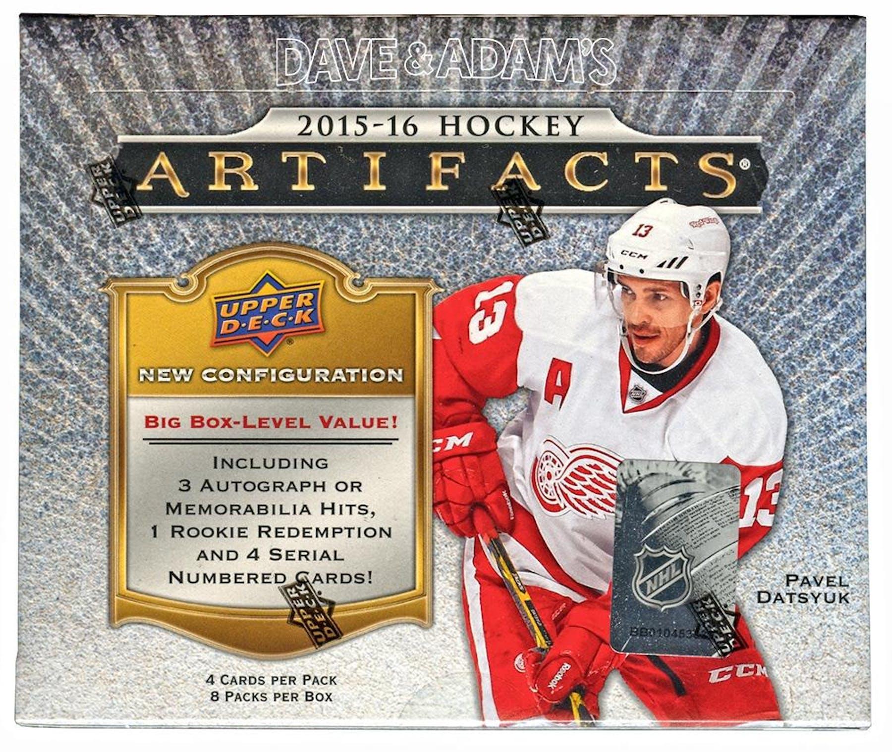 2015 16 Upper Deck Artifacts Hockey Hobby Box  441ecef68