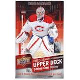 2015/16 Upper Deck Series 1 Hockey Hobby Box (Connor McDavid RC!)