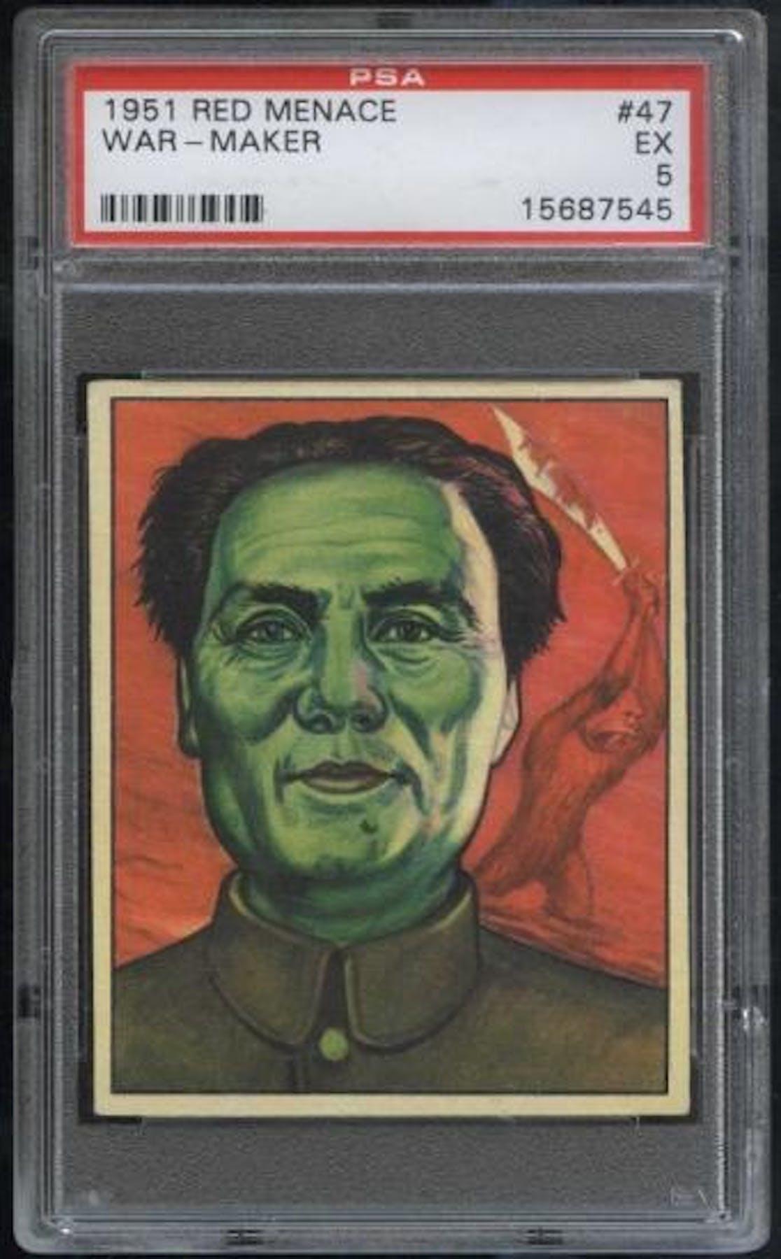 1951 red menace 47 war maker psa 5 ex 7545 da card world