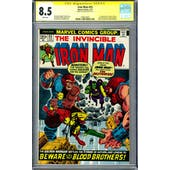Iron Man #55 CGC 8.5 Stan Lee Signature Series (W) *1596243007*