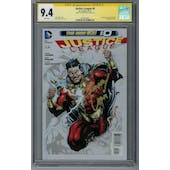Justice league #0 CGC 9.4 (W) Signed By Zachary Levi *1602230001*