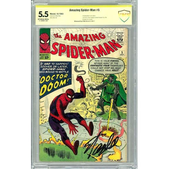 Amazing Spider-Man #5 CBCS 5.5 Stan Lee Signature (OW-W) *17-1646D11-007*