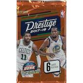 2017/18 Panini Prestige Basketball Hobby Pack (Lot of 24)