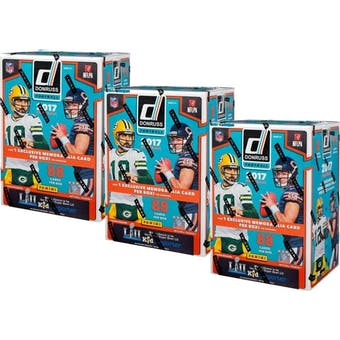 2017 Panini Donruss Football 11-Pack Blaster Box (Lot of 3)
