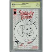 Stabbity Bunny #1 CBCS 9.8 (W) Signed by Ale Garza & Richard Rivera *18-0E68EBA-048*