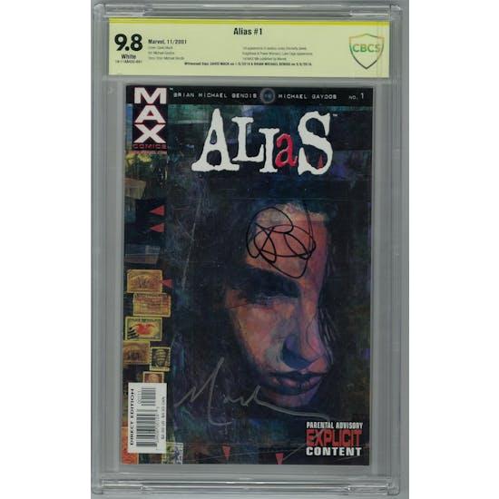 Alias #1 CBCS 9.8 (W) Signed By David Mack Brian Michael Bendis *18-11AB42C-001*