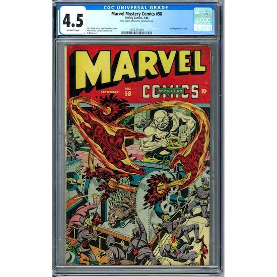Marvel Mystery Comics #58 CGC 4.5 (OW) *1997291003*