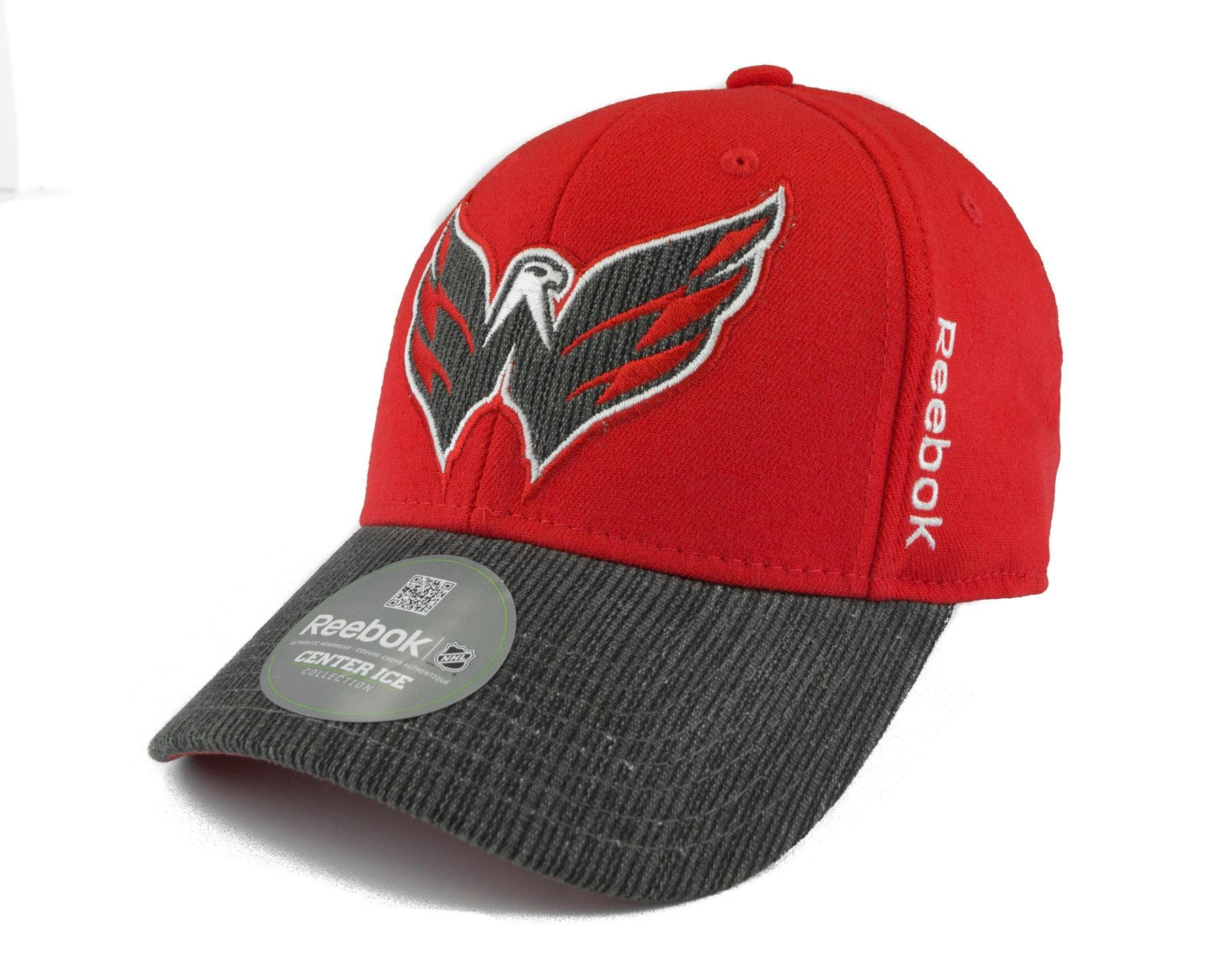 b77de7f730b Washington Capitals Reebok Red Travel and Training Fitted Hat
