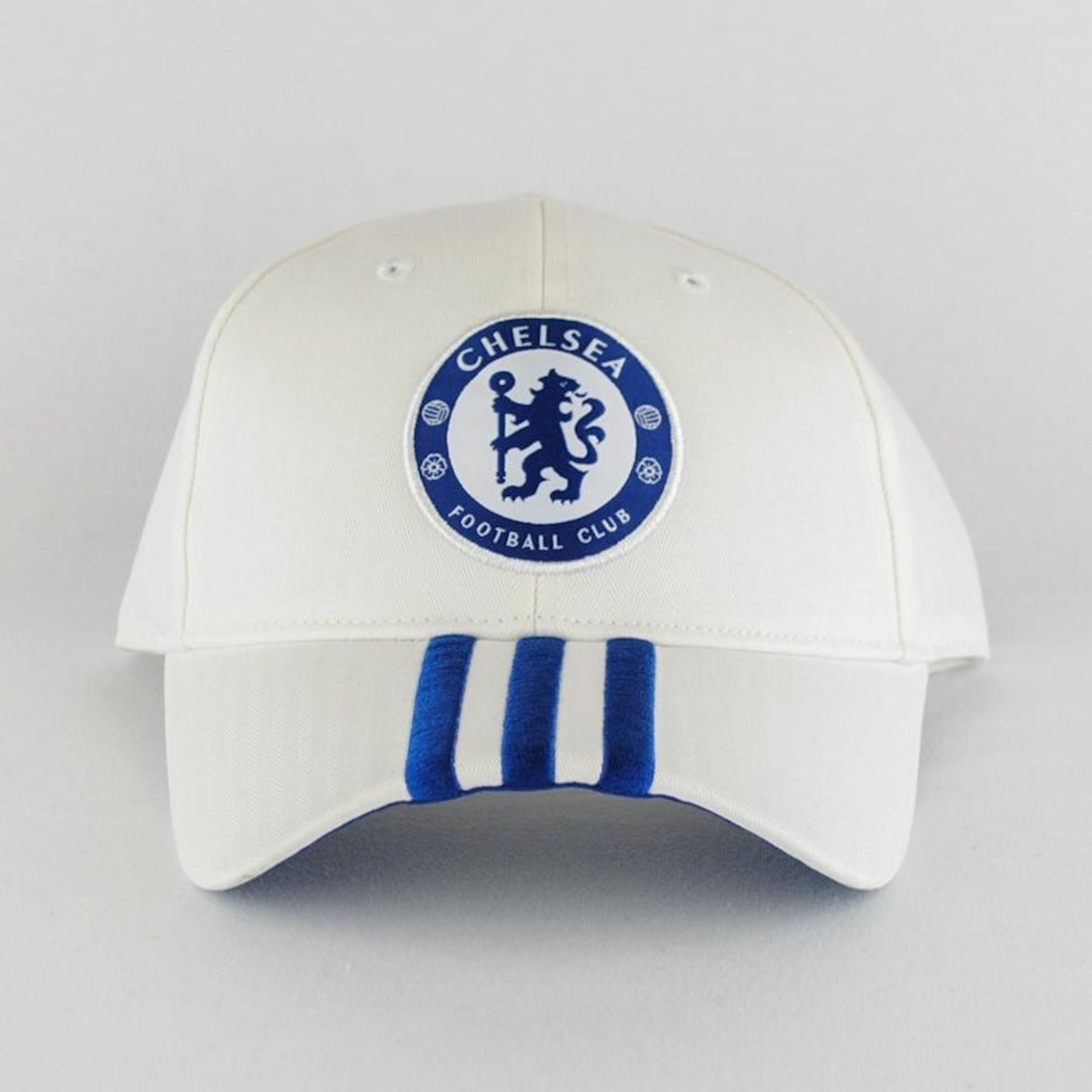 Chelsea Football Club Adidas Soccer White Adjustable Hat (Adult One Size)  7688266b10b