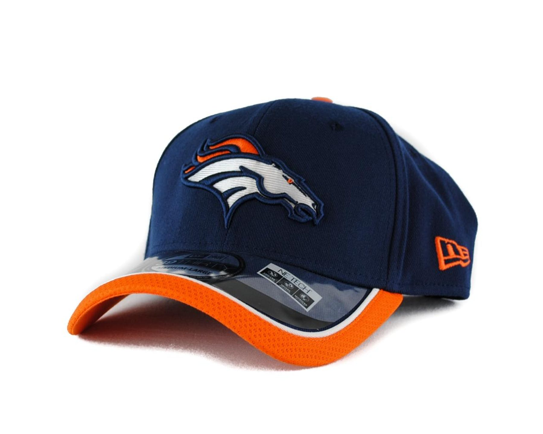 f6f0b922d Denver Broncos New Era Navy Team Colors 39Thirty On Field Fitted Hat