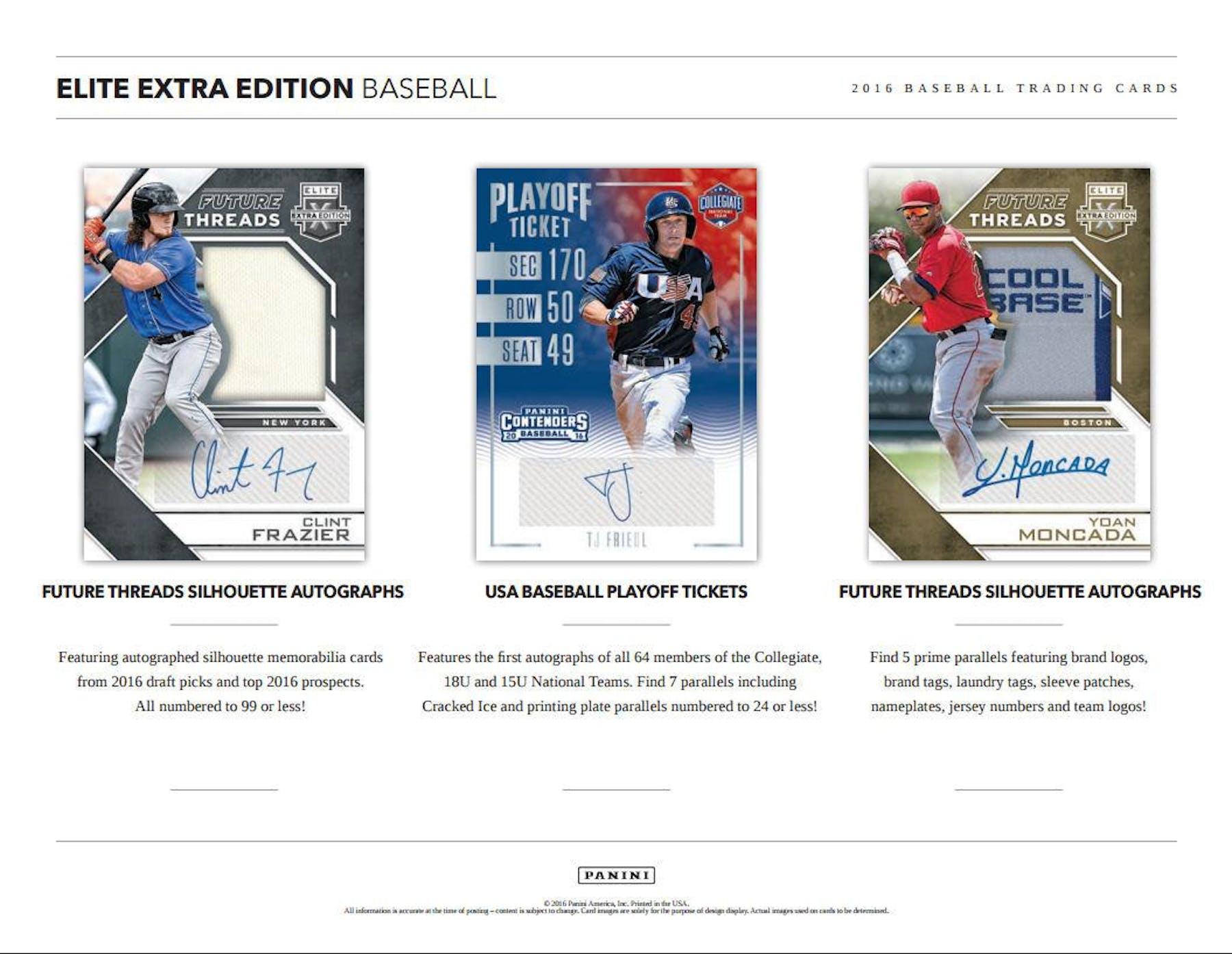 af3a03970e8 ... 2016 Panini Elite Extra Edition Longevity Baseball Box