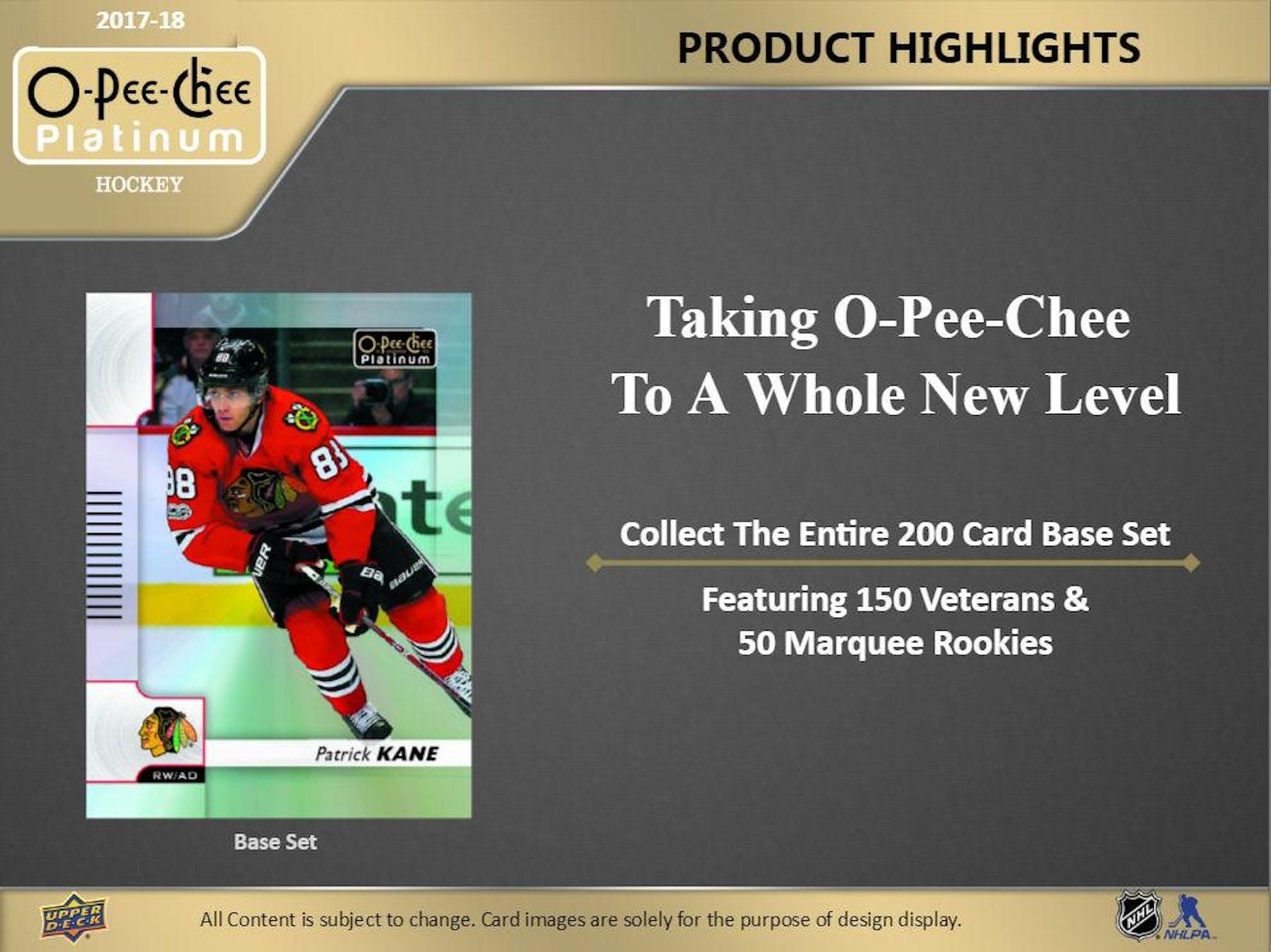 ... 2017 18 Upper Deck O-Pee-Chee Platinum Hockey Hobby Box e31c172e3