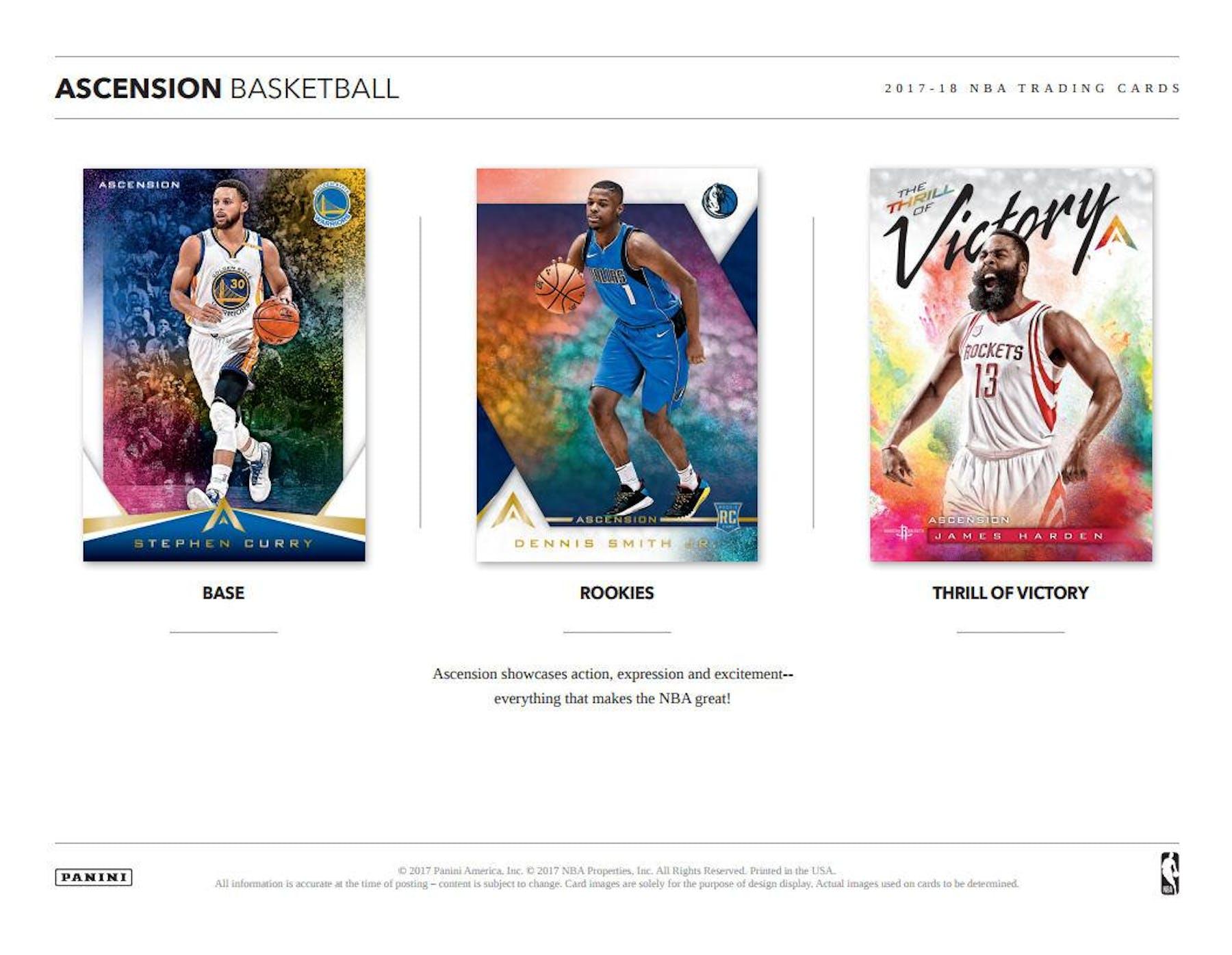 250aedd2d7b ... 2017 18 Panini Ascension Basketball Hobby Box ...