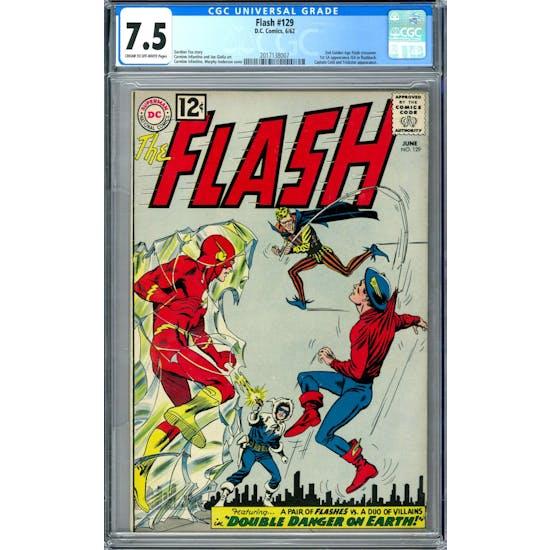 Flash #129 CGC 7.5 (C-OW) *2017138007*
