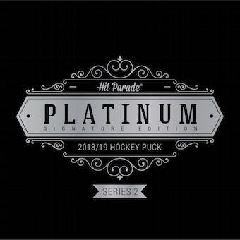 2018/19 Hit Parade Autographed Platinum Hockey Puck 10-Box Hobby Case - Series 2 Kane, Burns & Matthews!