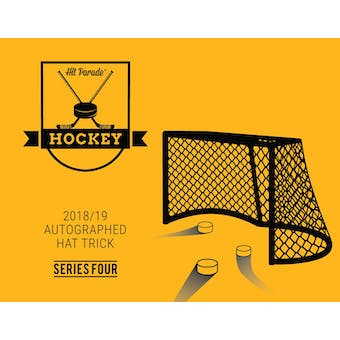 2018/19 Hit Parade Autographed HAT TRICK Series 4 Hockey 3-Box - New Year 9 Spot Random Hit Break #2