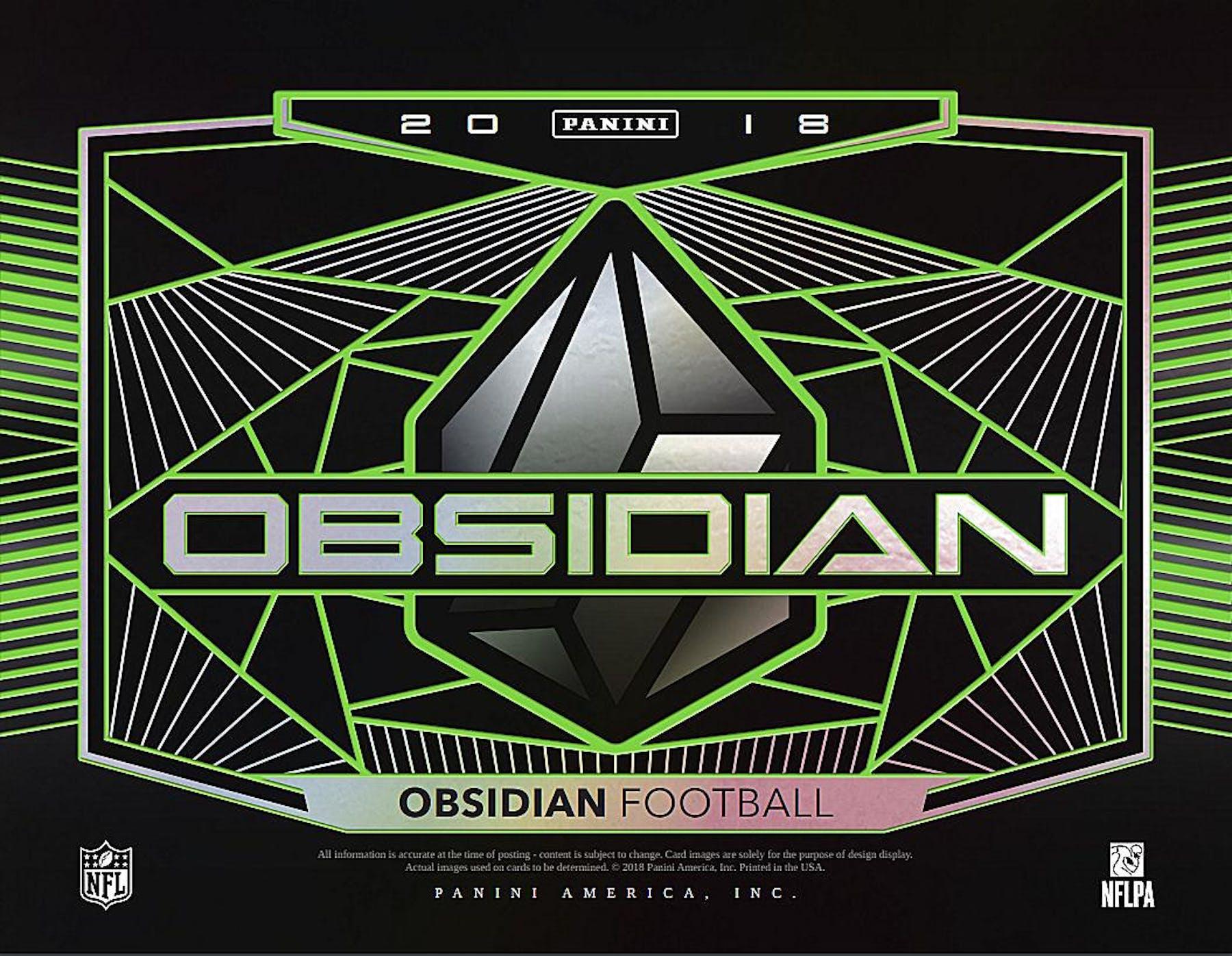 2018 Panini Obsidian Football 12-Box Case- 2018 Holiday 32 Spot Random Team  Break a65f38fd6