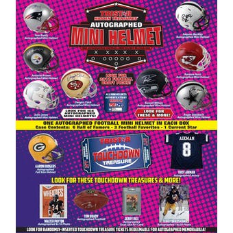 2018 TriStar Hidden Treasures Autographed Mini Helmet Series 2 Football Hobby Box