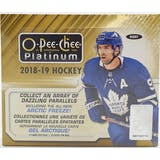 2018/19 Upper Deck O-Pee-Chee Platinum Hockey Hobby Box