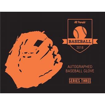 2018 Hit Parade Autographed Baseball Glove Hobby Box - Series 3 - Derek Jeter & Mike Piazza!!!