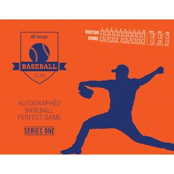 2018 Hit Parade Autographed Baseball PERFECT GAME Series 1- DACW Live 27 Spot Random Hit Break #1