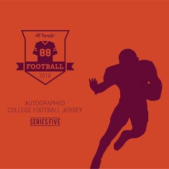 2018 Hit Parade Autographed College Football Jersey Hobby Box - Series 5 - Ezekiel Elliott & Jared Goff!!!