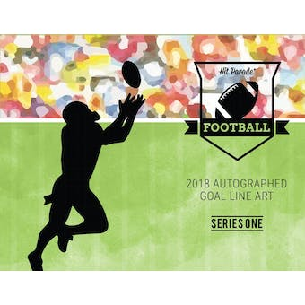 2018 Hit Parade Autographed Football Goal Line Art Card Hobby Box - Series 1 - Walter Payton & D. Hutson!!!
