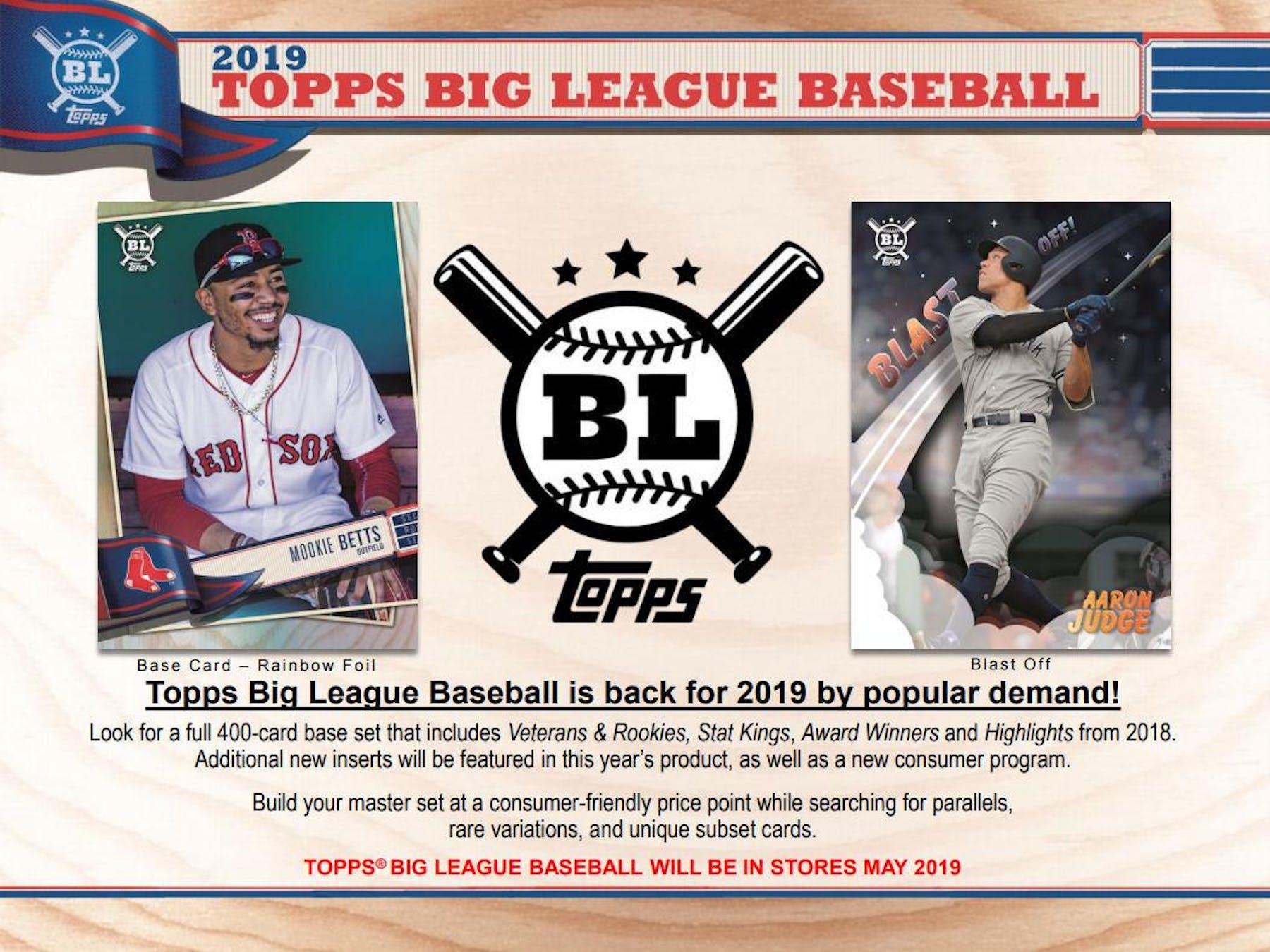 50ddd88e4b 2019 Topps Big League Baseball Hobby 20-Box Case (Presell)