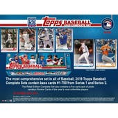 2019 Topps Factory Set Baseball (Box) Case (8 Sets) (Presell)