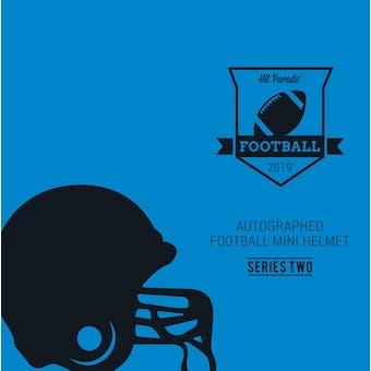 2019 Hit Parade Auto Football Mini Helmet 1-Box Series 2- DACW Live 8 Spot Random Division Break #5