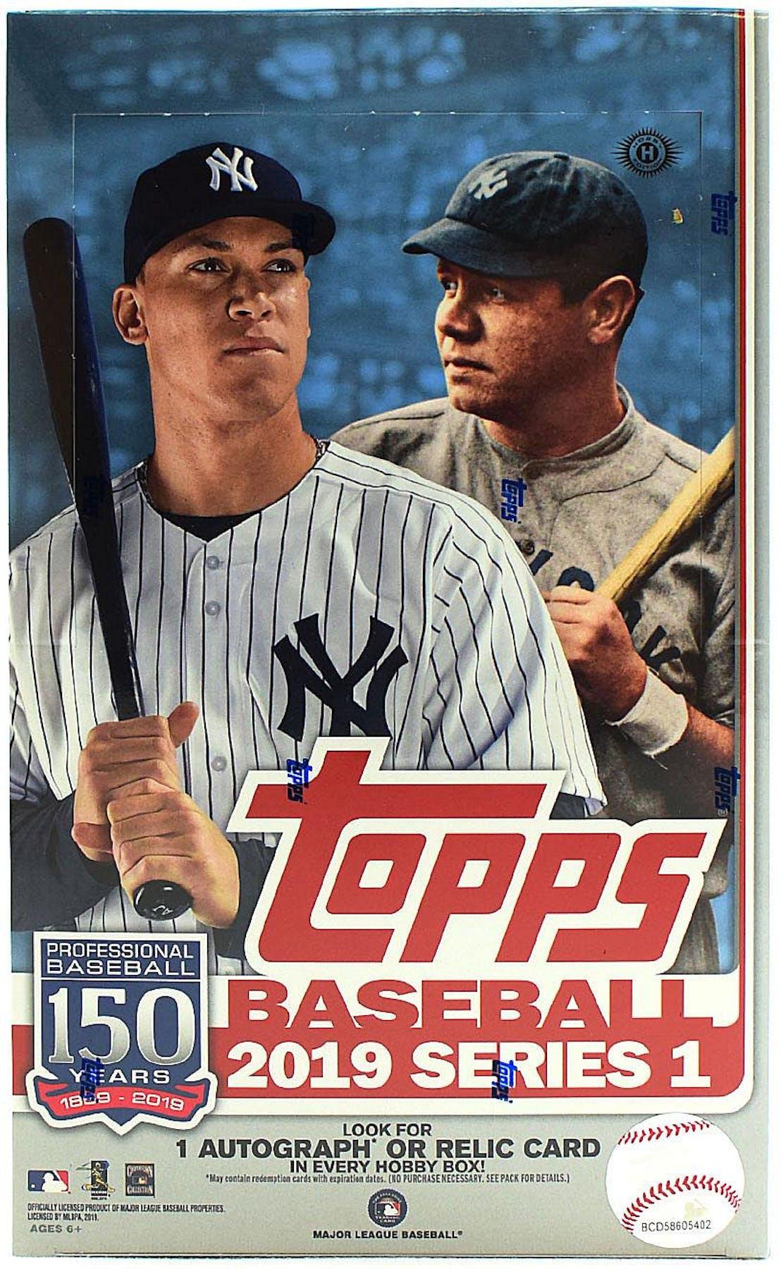 a2c600c9b73 2019 Topps Series 1 Baseball Hobby Box (PLUS 1 Silver Pack!)