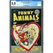 Fawcett's Funny Animals #15 CGC 5.0 (C-OW) *2027239003*
