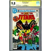 The New Teen Titans #1 CGC 9.8 (W) Signed by George Perez *2490917012*