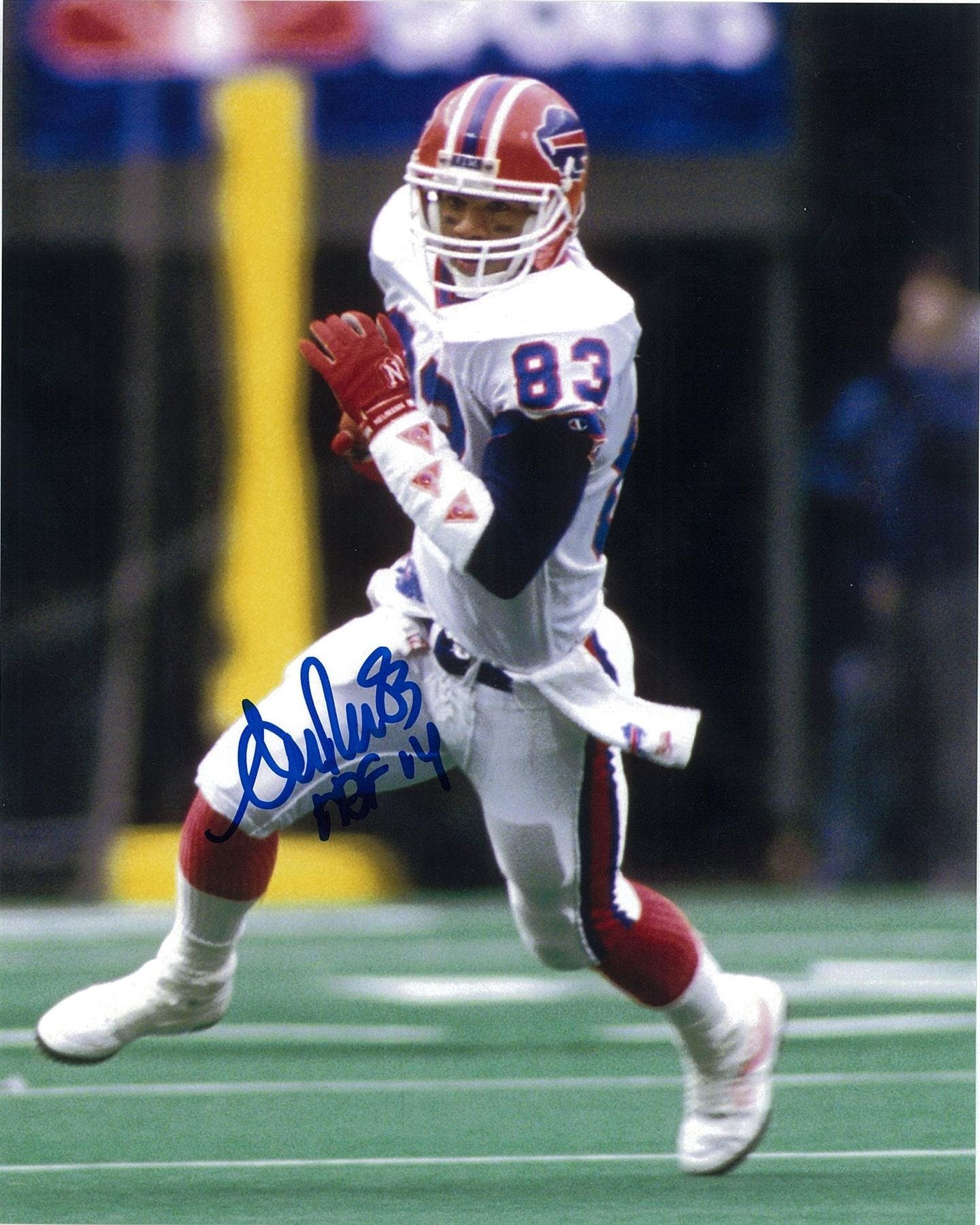 df171ecf978 Andre Reed Autographed Buffalo Bills 8x10 Football Photo with HOF ...